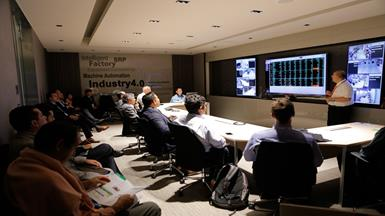 Realizing Intelligent Factory with Real-time Situation Room Signage