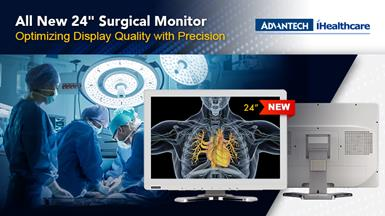 "Advantech Kostec Launches 24"" KT-E240F Medical Grade Surgical Monitor"
