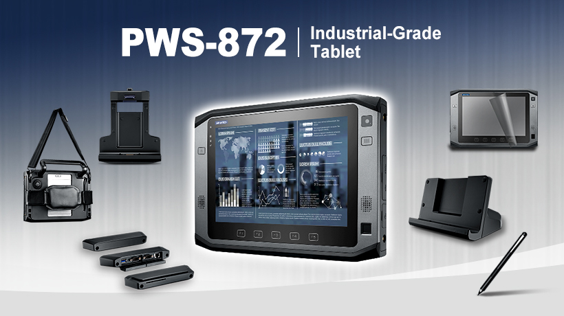 PWS-872 Industrial-Grade Tablet with Modular Peripherals for Diverse Applications