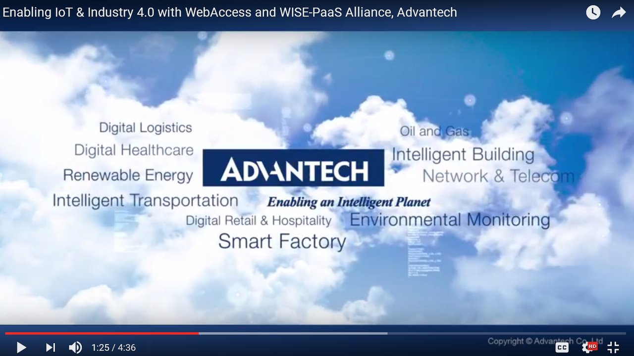Enabling IoT & Industry 4.0 with WebAccess and WISE-PaaS Alliance, Advantech