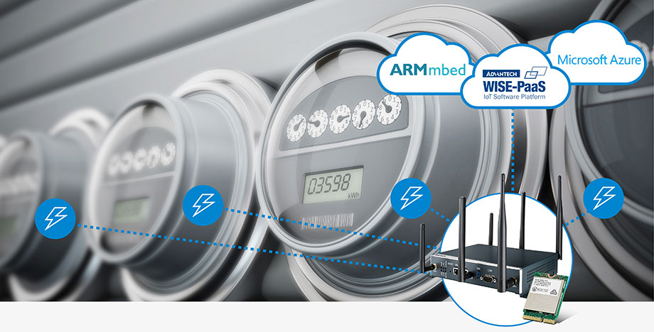 Advantech LoRaWAN Solutions for Smart Metering- Daily Cloud Communication for Monitoring and Billing