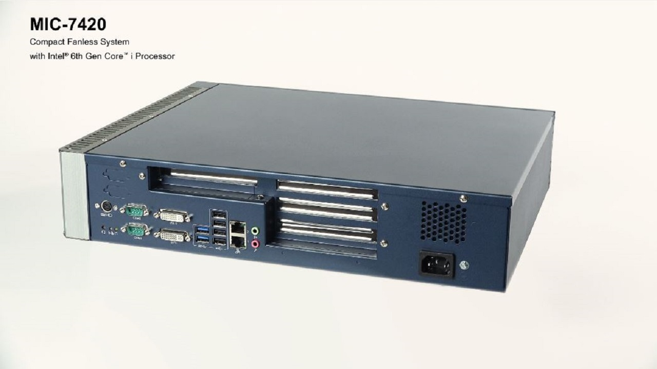 MIC-7420: Compact Fanless System with Intel® 6th Gen Core™ i Processor