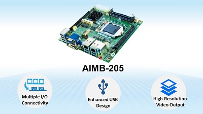 Advantech Launches Mini-ITX AIMB-205 to Support 6th & 7th Generation Intel® Core Processors for Self-Service Applications