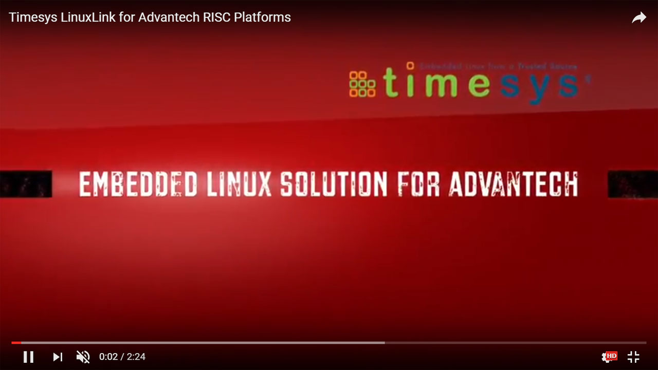 Timesys LinuxLink for Advantech RISC Platforms
