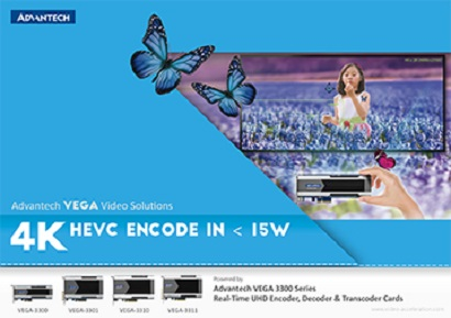 Advantech VEGA 3300 Series - - Real-Time UHD Encoder, Decoder & Transcoder Cards