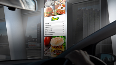 Advantech High Brightness Display Solutions Shine on Digital Drive-thru Menu Boards
