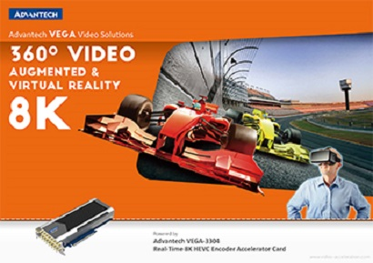 Advantech VEGA-3304 - - Real-Time 8K HEVC Encoder Accelerator Card