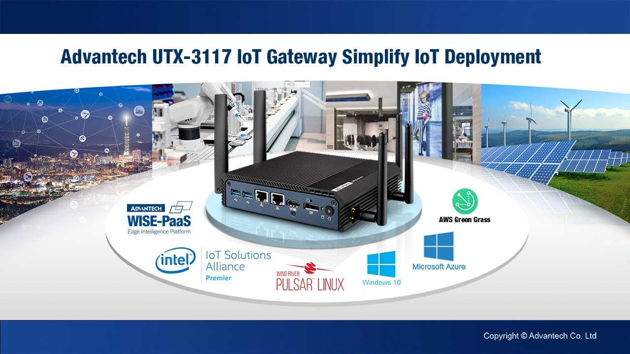 Advantech UTX-3117 Multi-Connectivity IoT Gateway