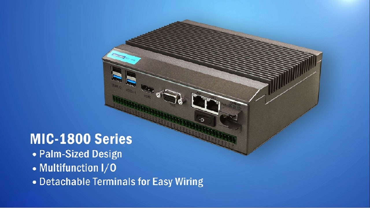 MIC-1800 Series: Palm-Sized DAQ Embedded Computer